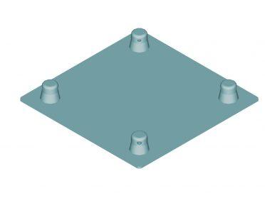 ALUTRUSS DECOLOCK DQ4-SBPM Base Plate MALE bk