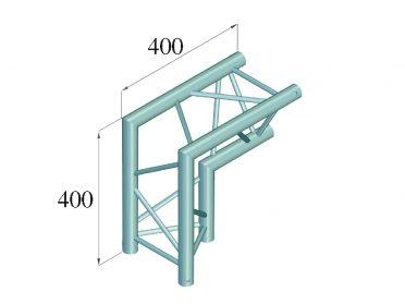 ALUTRUSS DECOLOCK DQ3-SPAC25 2-Way Corner 90° bk