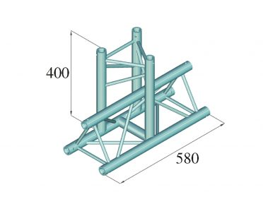 ALUTRUSS DECOLOCK DQ3-SPAT35 3-Way T-Piece 90° bk