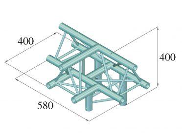 ALUTRUSS DECOLOCK DQ3-SPAT43 4-Way T-Piece / bk