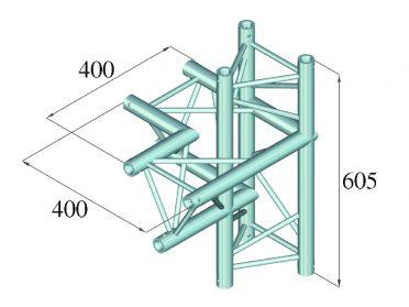 ALUTRUSS DECOLOCK DQ3-SPAC44 4-Way Corner left bk