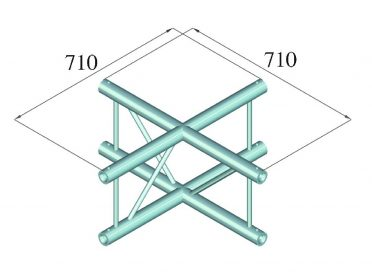 ALUTRUSS BILOCK E-GL22 C41-V 4-Way Cross