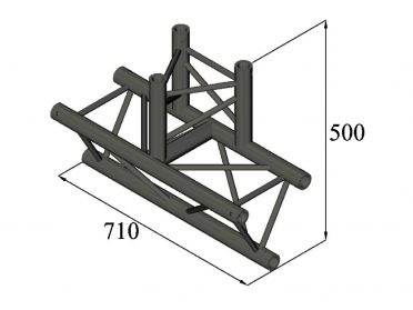 ALUTRUSS TRILOCK S-PAT-38 3-Way T-Piece