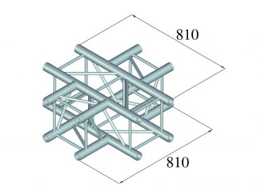 ALUTRUSS QUADLOCK TQ390-QQT41 4-Way Cross Piece