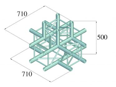 ALUTRUSS QUADLOCK 6082C-51 5-Way Cross Piece