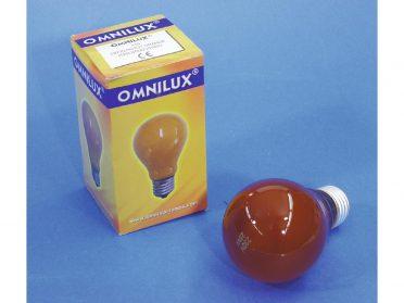 OMNILUX A19 230V/25W E-27 orange