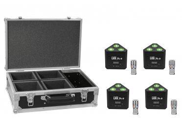 EUROLITE Set 4x LED TL-3 RGB+UV Trusslight + Case