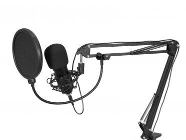 Podcast mikrofon szett - Omnitronic | VLOG STREAM BROADCAST BMS-1C USB Condenser Broadcast Microphone Set