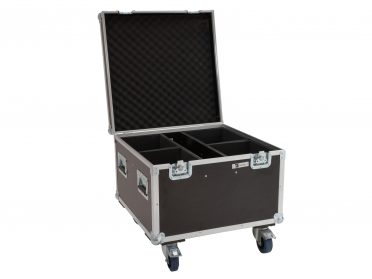 ROADINGER Szállítóláda színpadi stúdió Flightcase 4x LED Theatre COB 100 series with wheels