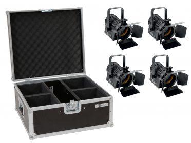 Stúdió színpadi Spot lámpa EUROLITE Set 4x LED THA-20PC TRC Theater-Spot bk + Case