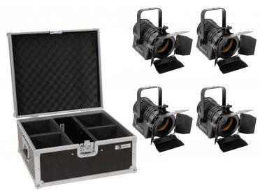 akkumulátoros Stúdió színpadi Spot EUROLITE Set 4x AKKU THA-20PC TRC Theater-Spot bk + Case