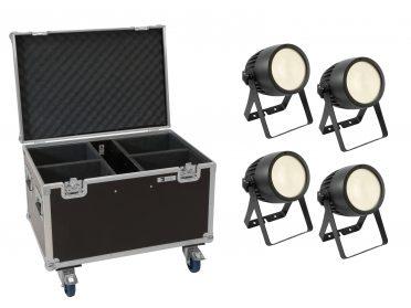 színházi spotlámpa melegfehér EUROLITE Set 4x LED Theatre COB 200 WW + Case with wheels