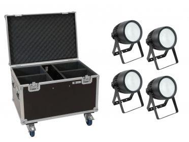 EUROLITE Set 4x LED Theatre COB 200 WW/CW + Case with wheels