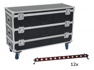 BAR fényeffekt RGB EUROLITE LED BAR-12 QCL RGB+UV Bar + Case with wheels