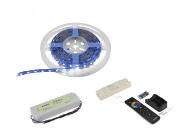 Színes led szalag EUROLITE Set LED Strip 300 5m RGBWW + RF Controller + Transformer 24V