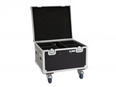 ROADINGER Flightcase 4x LED IP PAR 7x8W QCL/7x9W SCL with wheels