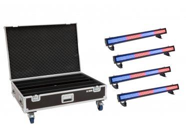 Kültéri IP BAR fény EUROLITE Set 4x LED IP T-PIX 8 QCL Bar + Case