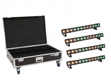 IP BAR fény pixel EUROLITE Set 4x LED IP T-PIX 12 HCL Bar + Case with wheels