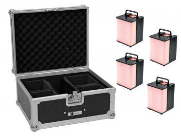 Akkumulátoros LED spotlámpa 1x15W EUROLITE Set 4x AKKU UP-1 Glow QCL Flex Spot QuickDMX + Case