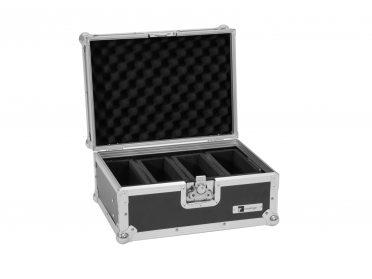 Szállítóbox akkumulátoros flat spotlámpákhoz ROADINGER Flightcase EC-4AC 4x AKKU Flat Light Series